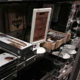 A6 de Plastic Tribune van de Vertoning van de Lijst voor Koffie