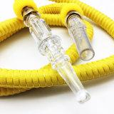 mangueira plástica de borracha do cachimbo de água de 1.5m Shisha com adaptador bucal de vidro (ES-HH-001-1)