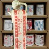 El tocador de la Navidad limpia el tejido impreso de la cocina del papel higiénico de la novedad