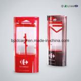 Espaço livre pequeno que empacota a caixa plástica desobstruída do PVC do vinco macio transparente