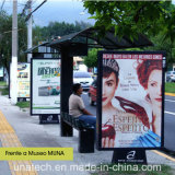 옥외 거리 도로 공도 대 자유로운 광고 알루미늄 두루말기 LED 뒤 가벼운 상자 게시판