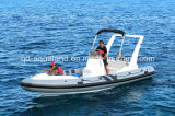 Aqualand 21feet 6.5m Rigid Inflatable Motor Boat 또는 Rib Fishing Boat (rib650c)