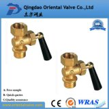 Messingkugelventil mit Nippel-hochwertigem handbetriebenem Verbindungsstück-Ende 2 Zoll-niedriger Preis für Wasser