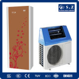 La agua caliente 220V R410A 5kw, 7kw, 9kw de Dhw 60deg c del hogar salva el tanque solar híbrido 300L del calentador de agua de la pompa de calor del aire de la potencia Cop5.32 del 80%