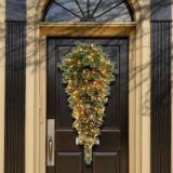 Le scintillement incline l'arbre de Noël de larme avec le brin Glittery de 50 lumières (MY100.098.00)