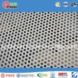 Chapa de aço inoxidável de furo perfurado para a decoração com GV do ISO