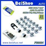 protezioni Hex di plastica del cappello a cilindro del bullone della rotella dell'ABS 20+1PCS impostate