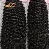 自然なカラーの100%年のバージンの毛のねじれたカールのペルーのRemyの人間の毛髪