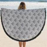 Tovagliolo 100% di spiaggia stampato rotondo del cotone con l'alta qualità