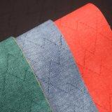 袋のための柔らかい浮彫りにされたPVCスポンジ革によって薄板にされるファブリック