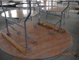 """"""" Tabella di piegatura rotonda di banchetto di legno 72 con il bordo di alluminio"""