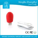 Bastone rivestito di gomma molle di memoria dell'azionamento dell'istantaneo del USB di vendita di tocco di figura comoda calda dell'arachide