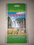 China bildete Plastik gesponnenen Beutel für Reis mit Griff