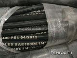Faser geflochtener verstärkter hydraulischer Gummischlauch (SAE100 R3/R6)