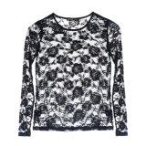 Frauen-Form-Shirt-reizvolle Rosen-Spitze-Kleidung