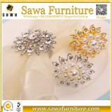 Anéis de guardanapo baratos por atacado da pérola da prata do casamento de Guangzhou