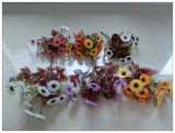 Flor artificial de seda de Bush da decoração Handmade por atacado (BH71030)