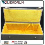 포도주 가죽 Specail 서류상 공단 삽입 (YLA41)를 가진 나무로 되는 색칠 스크롤 박스