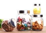 Kitchenware стеклоизделия хранения опарника Slant крышки винта стеклянный