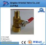 Muestra libre, vávula de bola de cobre amarillo de la llave-T 3/4 pulgada con en la fábrica común en la alta calidad de China