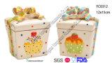 Tarro de galleta de cerámica de la Navidad fijado para la venta al por mayor