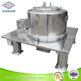 完全なステンレス鋼の食品規格の上の排出固形分を除去するための平らなフィルター遠心分離機
