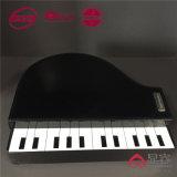 Art Piano Shape Storage Jóias Moda Leather Box