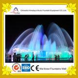 Grande fontaine au sol carrée de musique avec les éclairages LED colorés faux
