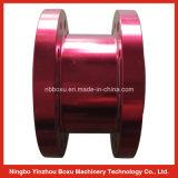 Bride en aluminium anodisée rouge usinée par OEM
