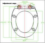 Asiento de tocador inferior del empuje del estándar europeo dos con cierre de la suavidad