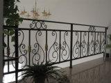 Barandilla hermosa elegante interior del hierro labrado