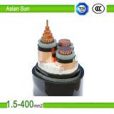 el aluminio 0.6/1kv/el conductor de cobre XLPE aisló el cable de transmisión forrado PVC