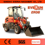 800kg Loading Agricultural Wheel Loader Er08 com Snow Bucket