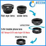 Objectif de caméra de téléphone mobile 3 dans 1 objectif zoom de lentille pour le téléphone mobile avec la lentille grande-angulaire de Fisheye Lens+ Lens+Macro