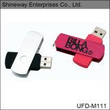 Mecanismo impulsor de destello del USB 2.0 populares del eslabón giratorio del metal, disco grande del USB del metal del área de impresión (M111)