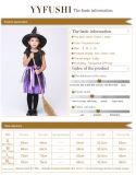 Малыши черные и пурпуровый Costume ведьмы причудливый платья для девушок