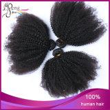 最上質の100%年の毛のアフリカの巻き毛の人間の毛髪