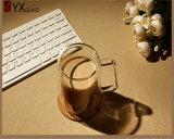 mão resistente ao calor de vidro do copo de café do escritório da parede 200ml dobro - Mouthblown feito