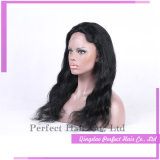 O laço cheio fronteia perucas curtas chinesas do cabelo humano de Glueless