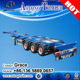 Preiswertes Price Tri-Axle 40FT Skeletal Container Semi Trailer für Sale, 20feet 40feet Skeleton Trailer