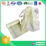 Sacchetto di rifiuti di plastica del Drawstring di prezzi di fabbrica su rullo