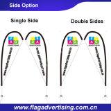 100% Polyester-Fliegen-Fahne Werbung Teardropmarkierungsfahne