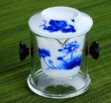 Copo de chá cerâmico do vidro de Borosilicate do filtro do estilo de China