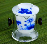 China Estilo filtro de cerámica de cristal de borosilicato taza de té