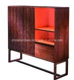 Gabinete da sala de visitas do projeto moderno da alta qualidade com pé de madeira