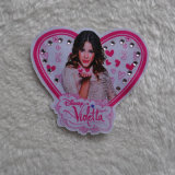 Diseño del corazón con el brillo del diamante de Pringting pacth de prendas de vestir de tejido