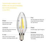 Bulbos listados Dimmable 2200k do filamento da vela do diodo emissor de luz do UL 120V 2With4W E12