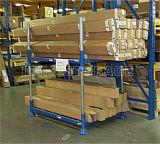 CE aprovado armazém de armazenamento Heavy Duty Stacking Aço Pallet