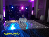 Luz Twinkling LED de la estrella de 2016 de Dance Floor del suelo iluminado más popular del suelo para la barra de DJ de la boda