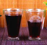 Двойная кофейная чашка 200 кружки боросиликатного стекла стены - кружка кофеего 400ml